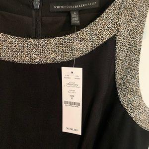 TWEED COMBO SHEATH DRESS